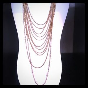 Gold Necklace Multi Layer beautiful NWT